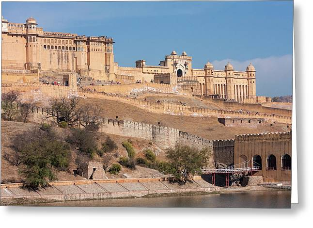Amber (or Amer) Palace, Near Jaipur Greeting Card by Charles O. Cecil
