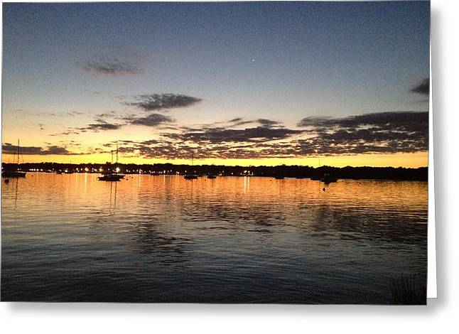 Ocean Photography Drawings Greeting Cards - Amber Radiance Greeting Card by Michael M