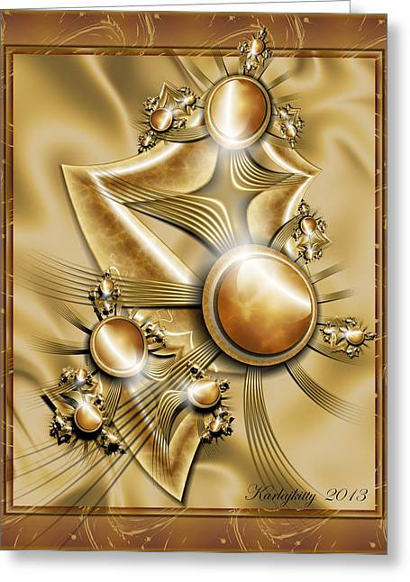 Karlajkitty Digital Greeting Cards - Amber Riches Greeting Card by Karla White