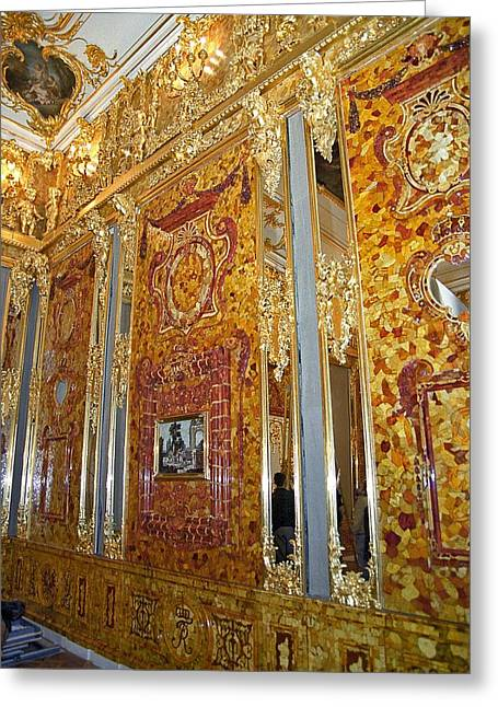 Sap Greeting Cards - Amber Room at Catherine Palace, Russia Greeting Card by Science Photo Library