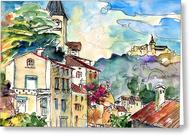 Midi Drawings Greeting Cards - Ambialet 01 Greeting Card by Miki De Goodaboom