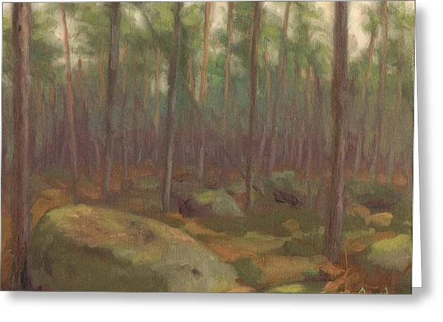 Paysage A L Greeting Cards - Ambiance Fontainebleau Greeting Card by David Ormond