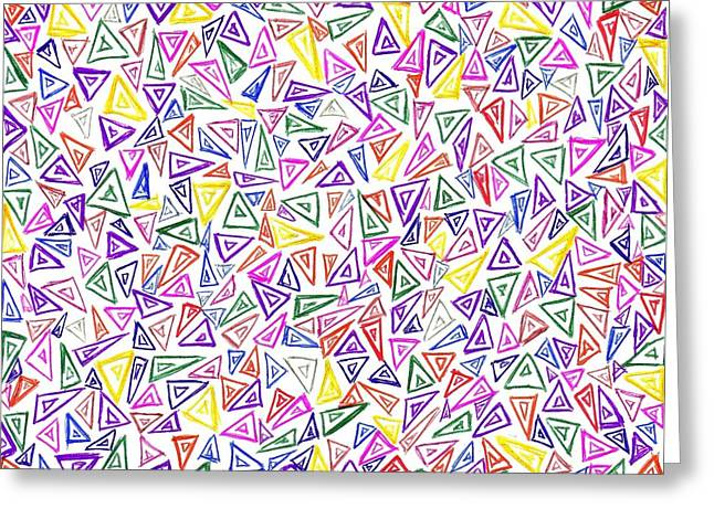 Geometric Image Drawings Greeting Cards - Ambition No 93 Greeting Card by J A   Art Gallery