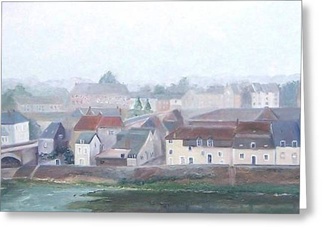 Marechal Greeting Cards - Amboise and the Loire River France Greeting Card by Jan Matson
