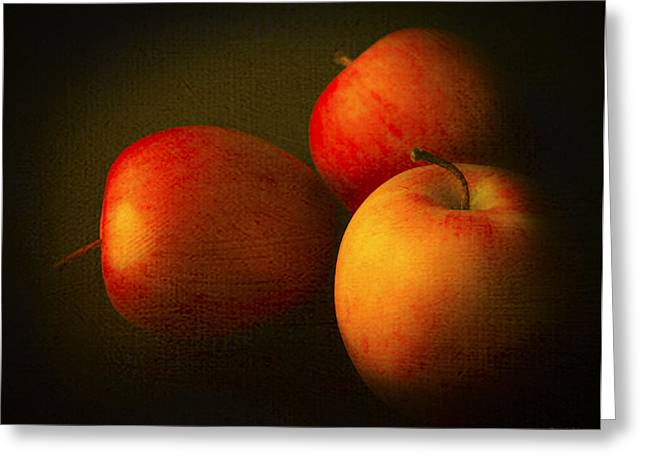 Canadian Photographers Greeting Cards - Ambrosia Apples Greeting Card by Theresa Tahara
