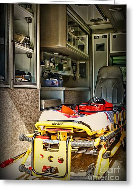 Gurney Greeting Cards - Ambulance - Trip of a Lifetime  Greeting Card by Paul Ward