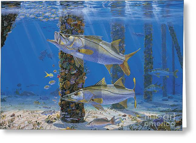 Bass Pro Shops Greeting Cards - Ambush In0027 Greeting Card by Carey Chen