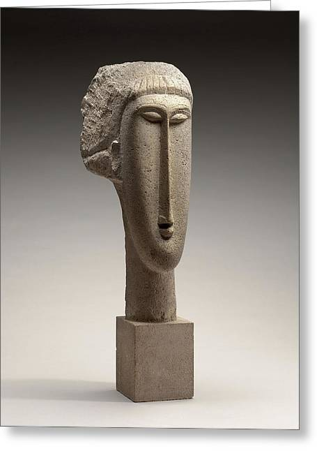 Amedeo Modigliani, Head Of A Woman, Italian Greeting Card by Litz Collection