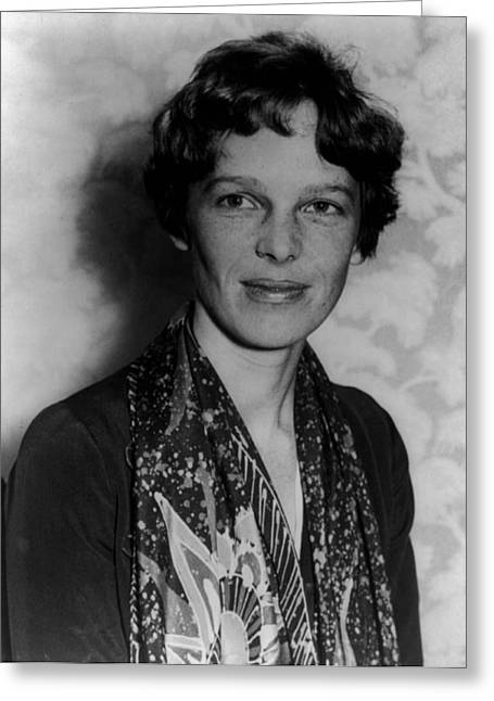 Aviation Pioneers Greeting Cards - Amelia Earhart Greeting Card by Mountain Dreams