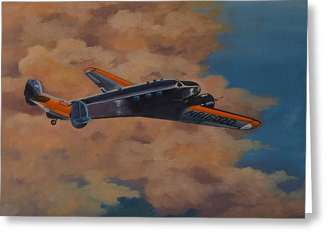 Famous Aviators Greeting Cards - Amelia Earheart Greeting Card by Murray McLeod