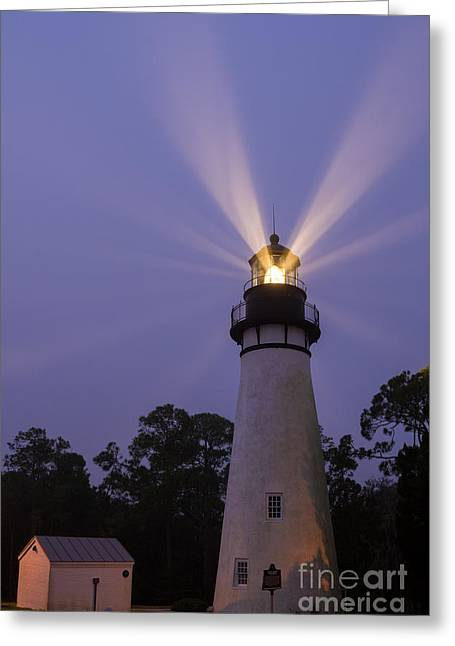 Beach At Night Greeting Cards - Amelia Island Light Fernandina Beach Florida Greeting Card by Dawna  Moore Photography