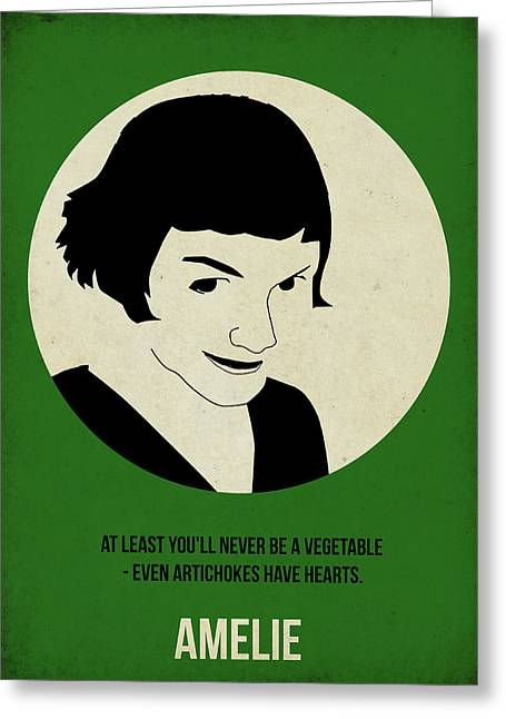 Famous Digital Greeting Cards - Amelie Poster Greeting Card by Naxart Studio