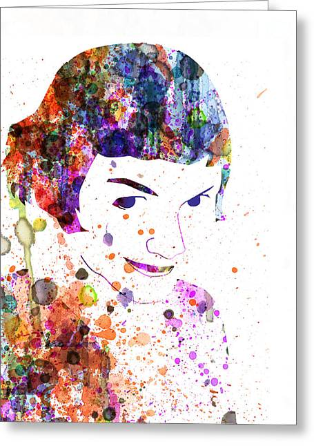 Shows Greeting Cards - Amelie Watercolor Greeting Card by Naxart Studio
