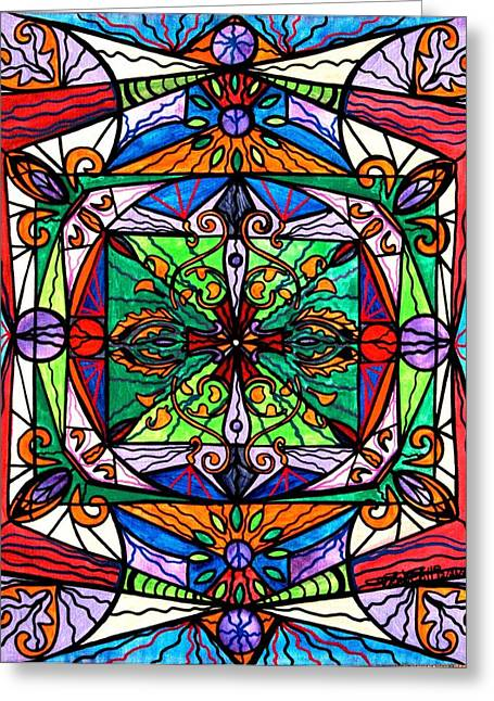 Mandala Greeting Cards - Ameliorate Greeting Card by Teal Eye  Print Store