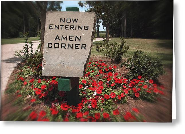 Amen Greeting Cards - Amen Corner - A Golfers Dream Greeting Card by Ella Kaye Dickey