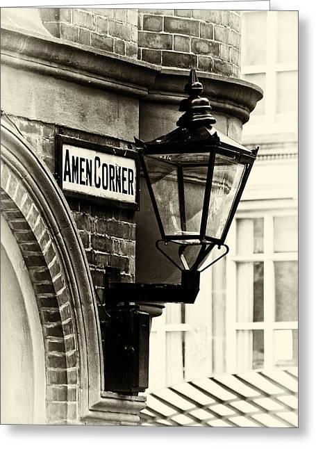 Amen Corner Greeting Cards - Amen Corner Greeting Card by David Pringle