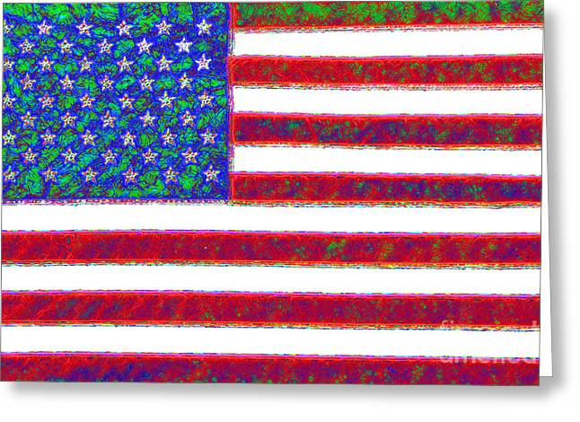 Made In The Usa Digital Greeting Cards - America - 20130122 Greeting Card by Wingsdomain Art and Photography