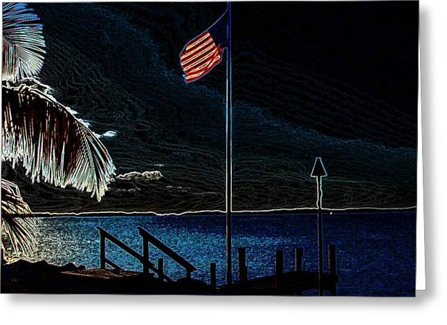 America all the Way 8 Greeting Card by Rene Triay Photography