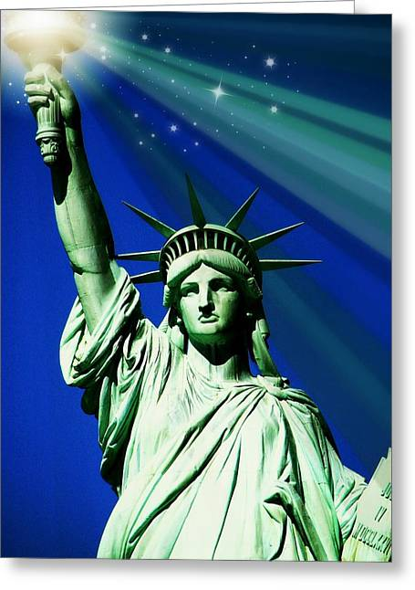 July 4th Greeting Cards - America Greeting Card by Diana Angstadt