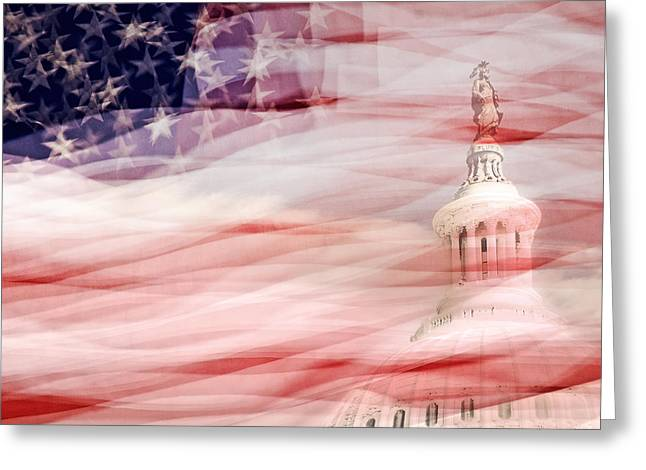 America Greeting Card by Don Johnson