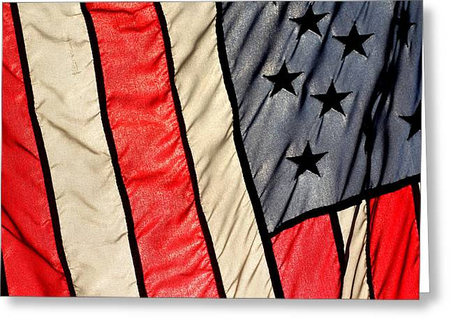 Patriots Framed Prints Greeting Cards - America on Old Kings Greeting Card by Ross Lewis