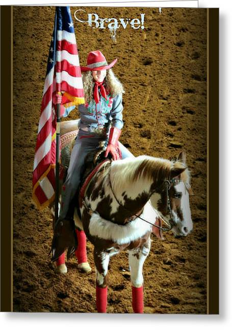 Cowgirl And Cowboy Greeting Cards - America -- Rodeo-Style Greeting Card by Stephen Stookey