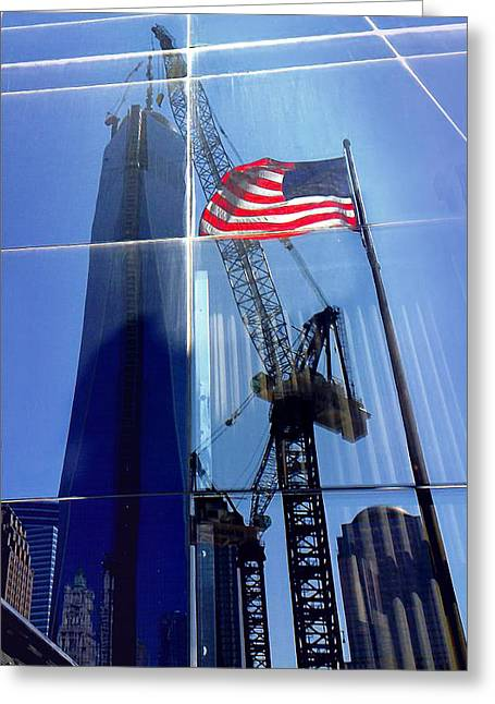 Li Van Saathoff Greeting Cards - America under construction Greeting Card by Li   van Saathoff