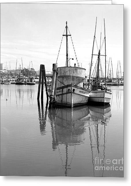 Moss Landing Boats Greeting Cards - Americal Clipper Fishing Boats  Moss Landing California 1972 Greeting Card by California Views Mr Pat Hathaway Archives