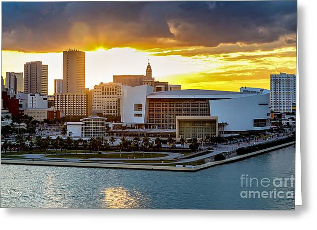 American Airlines Arena Greeting Cards - American Airlines Arena Greeting Card by Rene Triay Photography