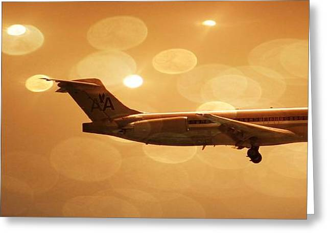 American Airlines Md80  Greeting Card by Aaron Berg