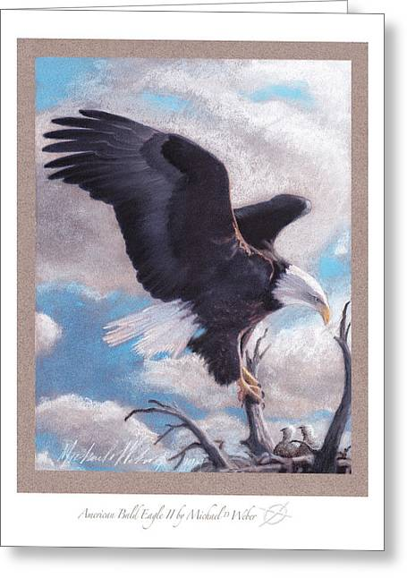 Bald Eagle Pastels Greeting Cards - American Bald Eagle II Greeting Card by Michael  Weber