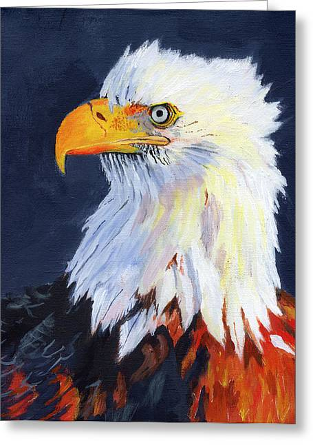 Majestic Falcon Greeting Cards - American Bald Eagle Greeting Card by Mike Lester