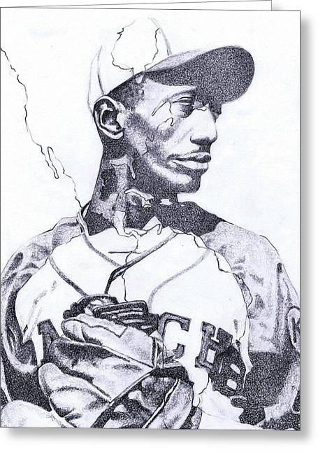 Satchel Paige Greeting Cards - American Ball Greeting Card by Paul Smutylo