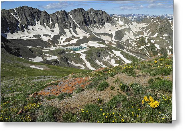 Rock Spring Trail Greeting Cards - American Basin Greeting Card by Aaron Spong