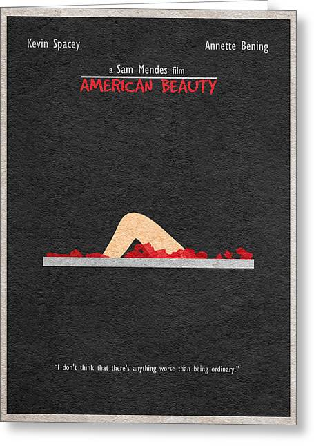 Vintage Movie Poster Greeting Cards - American Beauty Greeting Card by Ayse Deniz