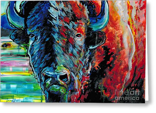 Tatanka Greeting Cards - American Bison Greeting Card by Bradley Bohl