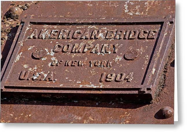 American Bridge Company Greeting Cards - American Bridge Company 1904 Greeting Card by Joseph C Hinson Photography