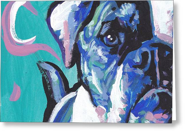 Bully Paintings Greeting Cards - American Bully Boy Greeting Card by Lea