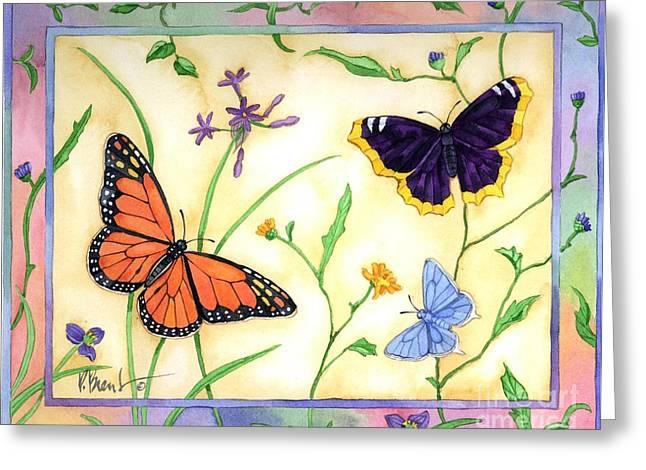 Butterflies Paintings Greeting Cards - American Butterflies 2 Greeting Card by Paul Brent