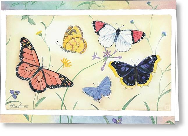 Butterflies Paintings Greeting Cards - American Butterflies I Greeting Card by Paul Brent