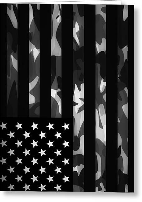 Hunter Greeting Cards - American camouflage Case Greeting Card by Nicklas Gustafsson