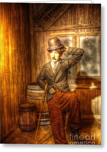 Charlot Greeting Cards - American Cinema Icons - The Little Tramp Greeting Card by Dan Stone