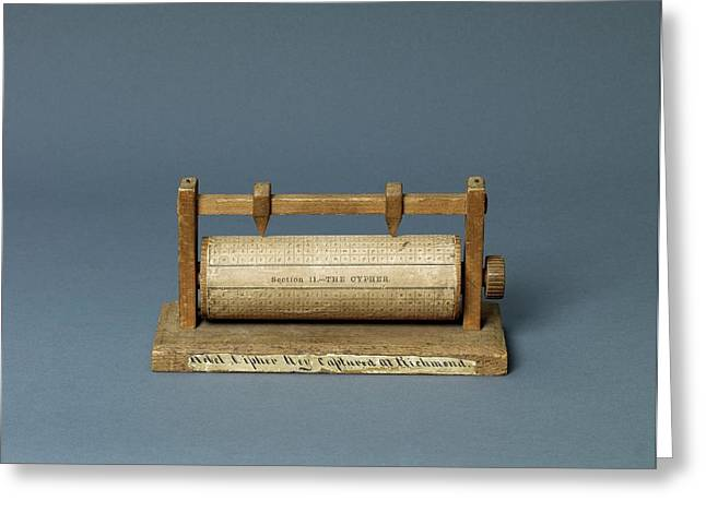 American Civil War Cipher Reel Greeting Card by Library Of Congress