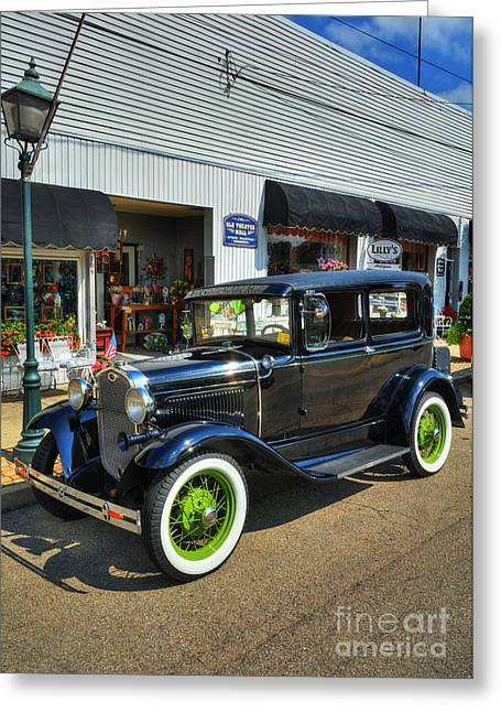 Ford Model A Greeting Cards - American Classic Car Greeting Card by Mel Steinhauer