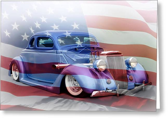 Graffitti Coupe Greeting Cards - American Classic Greeting Card by Steve McKinzie