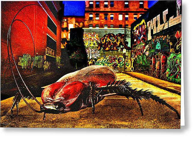 Science Fiction Greeting Cards - American Cockroach Greeting Card by Bob Orsillo