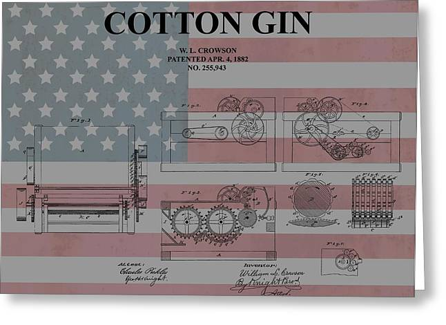 American Cotton Gin Patent Greeting Card by Dan Sproul