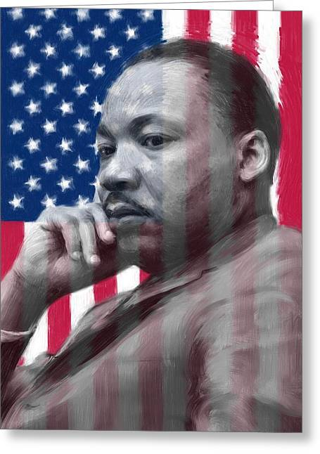 Civil Rights Greeting Cards - King - American Dream Greeting Card by Ben Thompson
