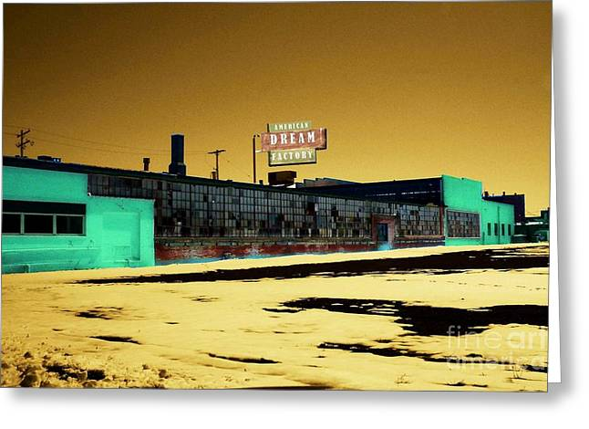 Political Decay Greeting Cards - American Dream Factory Greeting Card by Desiree Paquette