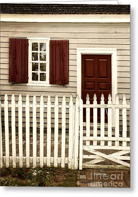 Entrance Door Greeting Cards - American Dream Greeting Card by Margie Hurwich